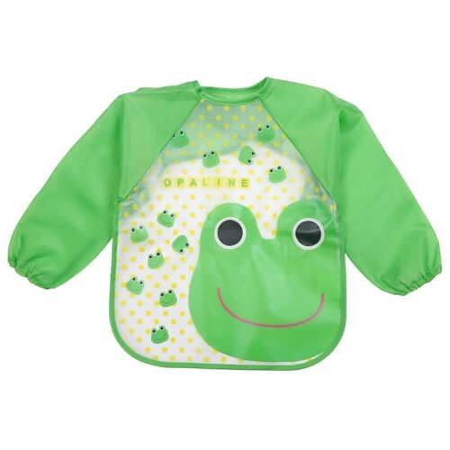 Baby Toddler Kids Long Sleeve Bib Waterproof Feeding Art Apron Smock New