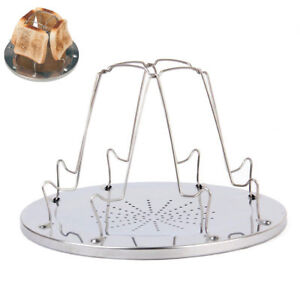 Fold Up Camping Toasting Rack Stove Toaster 4 Slice Gas Cooker Folding BBQ NEW