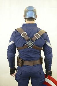 Captain America adjustable back shield HARNESS with Buckle accessory