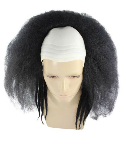 Colorful Men/'s Head Bald Cap With Hair Circus Evil Clown Men Cosplay Costume Wig