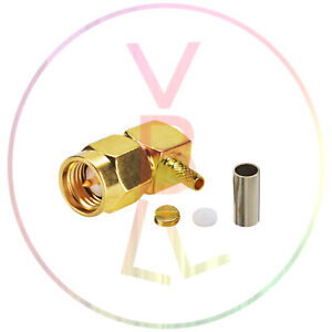 SMA-Crimp-Male-Right-Angle-RF-Coaxial-Connector-RG316-RG316-for-RG174-Cable