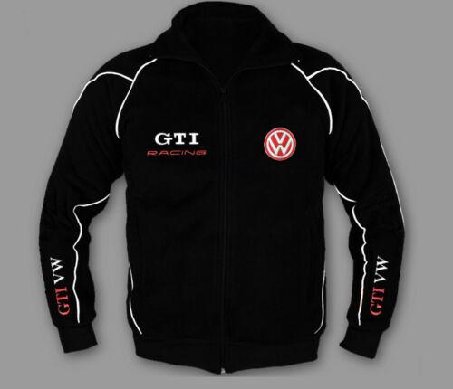 VOLKSWAGEN GTI Trainings Jacke Kapuze Hergestellt Europa vw Stickerei ALLE Größe