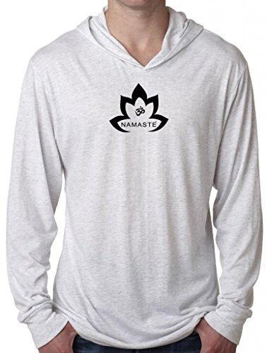 Mens Namaste Lotus Lightweight Hoodie Tee Shirt