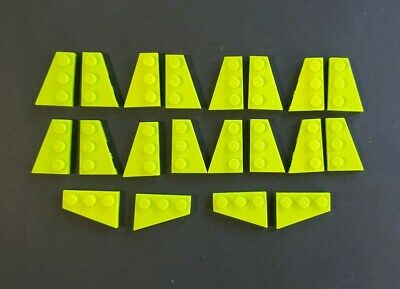 Lego-wedge plate 4x wing 2x3 right right lime green//lime 43722 new