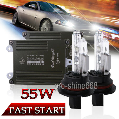 55W Quick Start 9007 43K 6K 8K 10K Xenon Headlight Conversion HID KIT Hi//Lo Beam