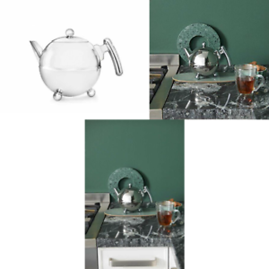 Bredemeijer-Duet-Bella-Ronde-1303CH-Double-Walled-Teapot-0-75-Litre-Stainless-St