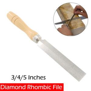 Plat Lime 75/100/125mm manche bois rentrants Diamant Lime atelier Limes