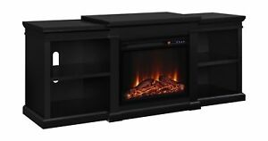 Altra Furniture Manchester Tv Stand Fireplace 70 Black Home