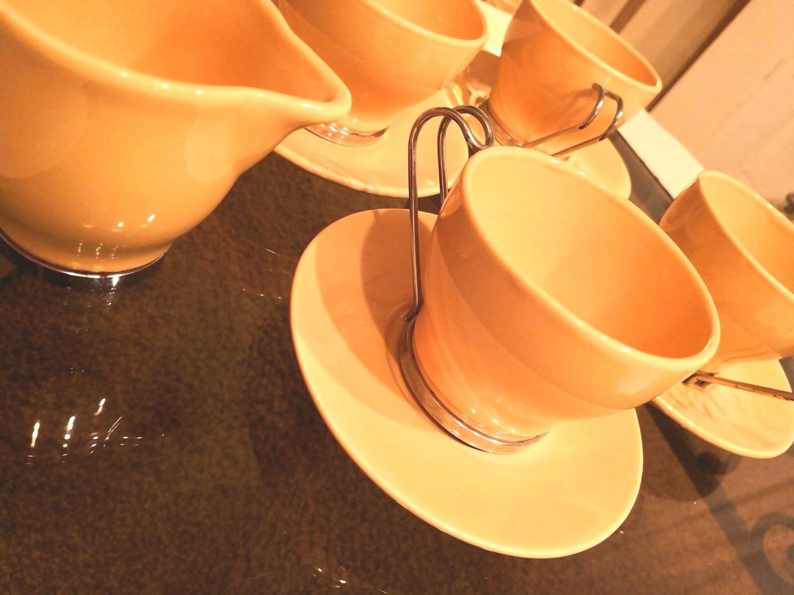 Rétro Italien Espresso Tasses avec soucoupes Pot à Lait Sucre Pot Rétro 1950 S 1960 S