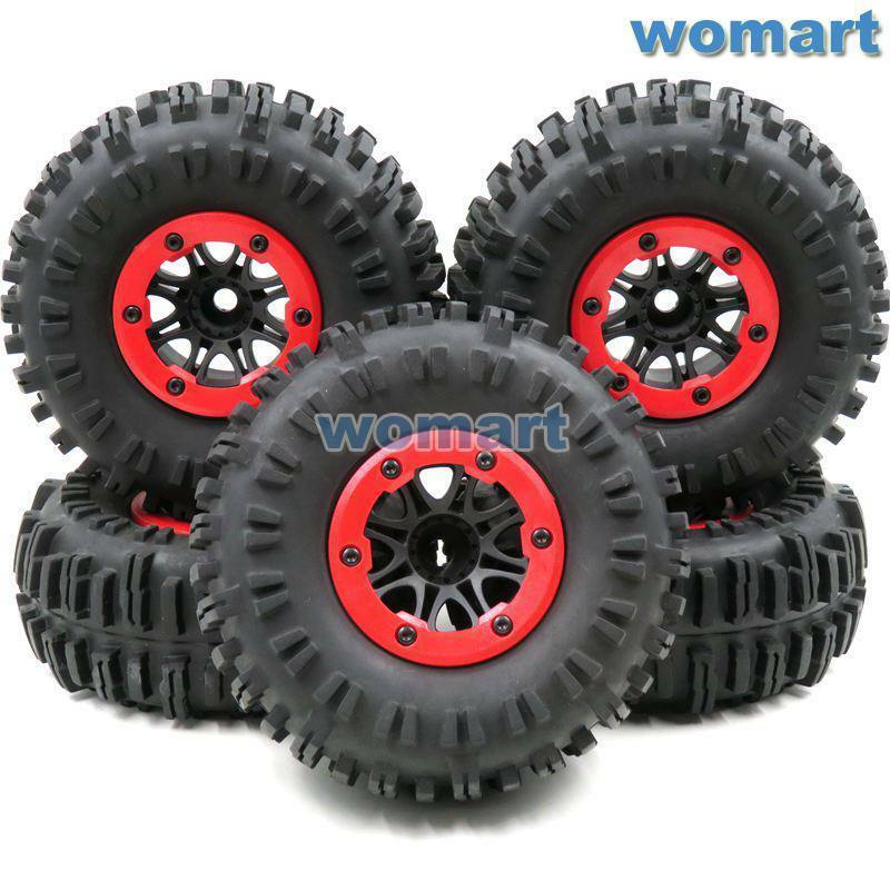 5stk RC 2.2 Crawler Badland tires neumáticos 130mm & 2.2 beadlock Wheels rims llantas