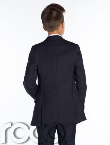Rouge 5-13 Ans Bleu Garçon Communion Costume Bordeaux calice cravate Garçons Bleu Marine Suit