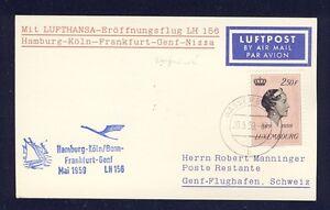 50768-LH-FF-Deutschland-Genf-Schweiz-24-5-59-Karte-ab-Luxemburg