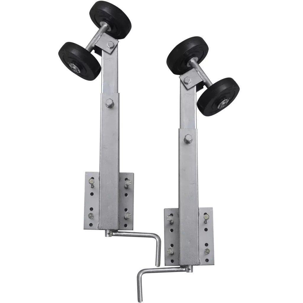 Sliprollen mit Pendel für Stiefelanhänger Stiefeltrailer Sliphilfe 2er-Set 59-84 cm