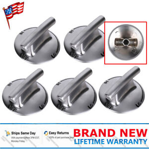 5-Pack 74007733 Gas Range Cooktop Burner Knob Replacement for Jenn-Air JGD8430ADS Compatible with WP7733P410-60 Top Burner Control Knob