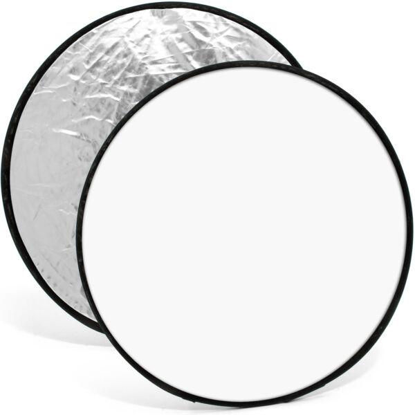 Belle 110cm Réflecteur De Lumière Diffuseur Pliable Photo Studio Housse Argent & Blanc Rendre Les Choses Commodes Pour Le Peuple