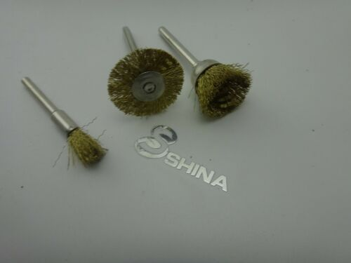 SHINA 45 PC Brass Wire Wheel Brushes for Dremel Accessories Rotary Tools Polish
