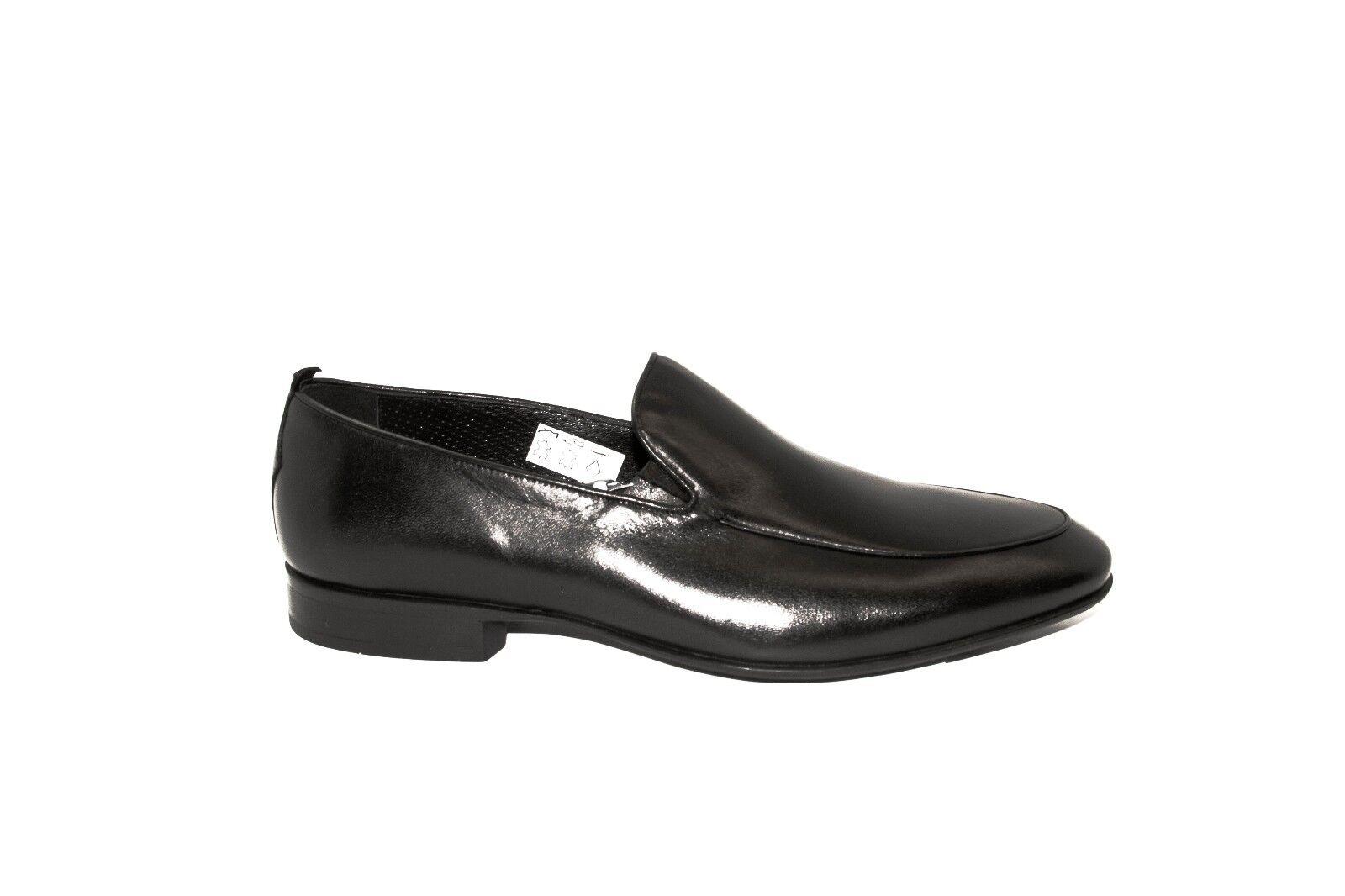Rossi 1386PR Uomo Uomo Uomo nero Leather Slip On scarpe dc811b