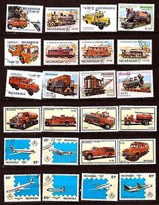 NICARAGUA-Aerei-camion-auto-pompiere-H238