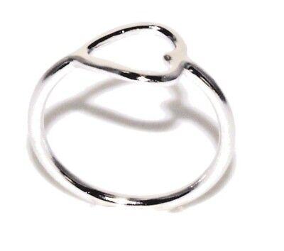 Ring offenes Herz 925 Sterling Silber Liebe Freundschaft