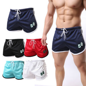 Men-039-s-Summer-Casual-Sports-Gym-Shorts-Running-Jogging-Trunks-Beach-Breathable