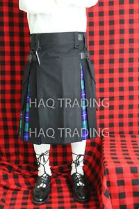 "Hybrid Kilt Black & Freedom Tartan 30"" to 60"""