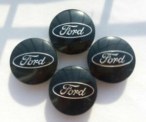 4-Black-Center-Wheel-Hub-Caps-For-Ford-Focus-Fusion-Fiesta-Edge-Escape-Cmax-54mm