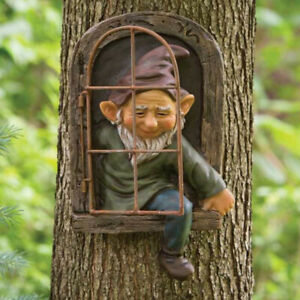 Garden Funny Gnome Ornament Dwarf Ceramic Stone Effect Tall Outdoor Indoor Decor