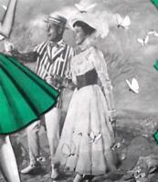 C1960 Mary Poppins Sheer Reinforced Heel Toe Rht Vintage Stockings Medium