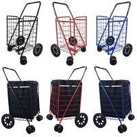 Shopping Cart Jumbo Folding Swivel Wheel 360 Degree Maneuverability Grocery 8061