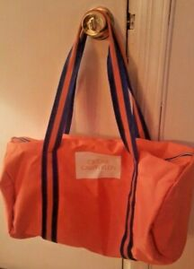a130430198b2 CALVIN KLEIN CK ONE Fragrances Large Orange Blue Trim Nylon Duffle ...