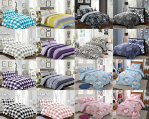 New-Printed-Bedding-Duvet-Quilt-Cover-Set-Single-Double-King-With-Pillow-Case