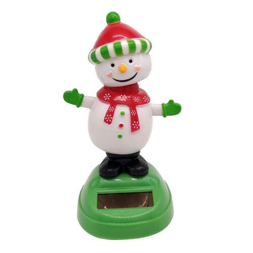 Snowman Wackel Dackel Wackeldackel Figur Solar Figur Dekoration Geschenk
