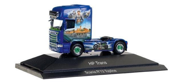 Herpa h0 110877 SCANIA R TL ZM  HP-trans-Valentino Rossi  (CZ) Nuovo Scatola Originale