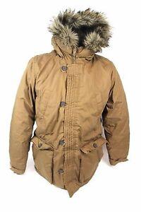 beliebt kaufen 1f806 c0740 Details zu DIVIDED by H&M Damen Winter Jacke Gr M Braun Kapuze mit  Kunstfell Parka Mantel