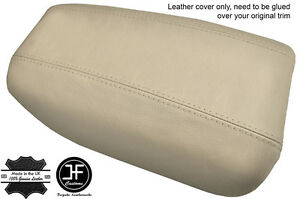 BEIGE-REAL-LEATHER-ARMREST-COVER-FITS-VOLVO-S80-1999-2006