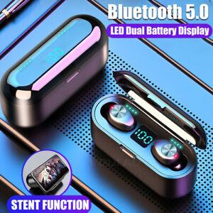 Bluetooth 5 0 Headset Tws Wireless Earphones Mini Stereo Headphones Earbuds Hot Ebay