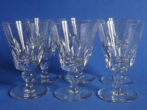 6 Verres A Aperitif Cristal Saint Louis Modele Jersey Ht 10,2 Cm Signés Lot N°1 Amener Plus De Commodité Aux Gens Dans Leur Vie Quotidienne