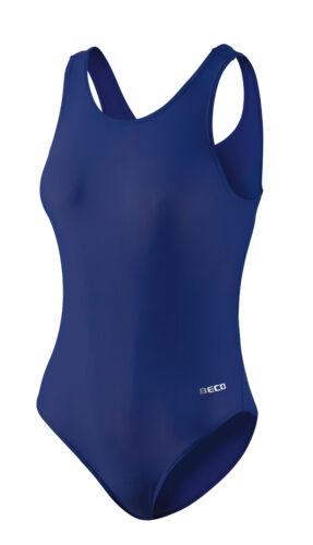 BECO Badeanzug Schwimmanzug Einteiler Größe 36-44 schwarz//blau//pink//marineblau