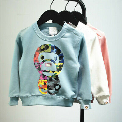 2019 A Bathing Ape Baby Milo Kids Boy Girl Monkey Bape Sweatershirt Hoodie