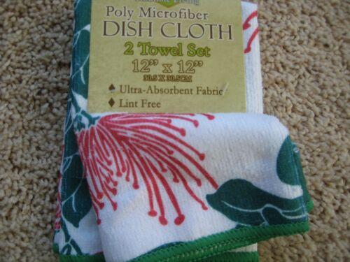 Hawaiian Hawaii Tropical 9 design Microfiber Kitchen Towel Dish Cloth set of 2