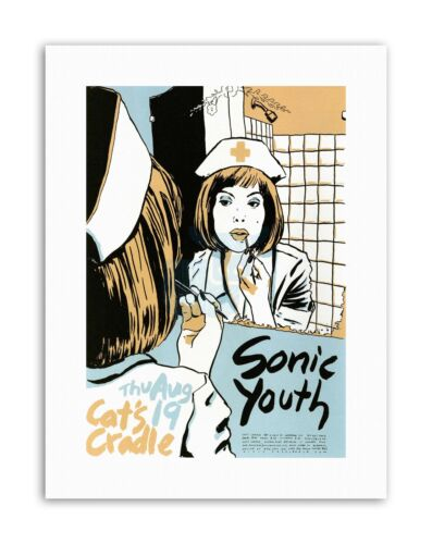 MUSIC CONCERT SONIC YOUTH CATS CRADLE USA Poster Music Canvas art Prints