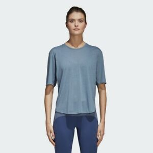 Details about New ADIDAS Women's FreeLift Climalite AEROKNIT TEE Training T shirt UK XS S M L