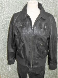de negra Chaqueta cuero Xl mujer L50 180 blusa para Gipsy talla 4x6xdqPnv