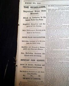 FIRST-BATTLE-OF-LEXINGTON-Missouri-State-Guard-S-Price-1861-Civil-War-Newspaper