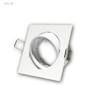 5-X-Luminaire-a-Encastrer-Carre-Pivotant-MR16-GU5-3-12V-Blanc-Spot-Encastre