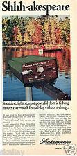 1970 Print Ad of Shakespeare Wonder Troll Super 606 Fishing Boat Motor