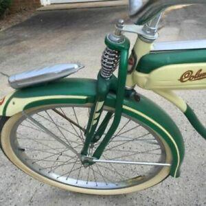 Columbia-Bicycle-Tank-CHROME-TRIM-RARE-Top-Piece-Fits-1947-57-Columbia-Bicycles