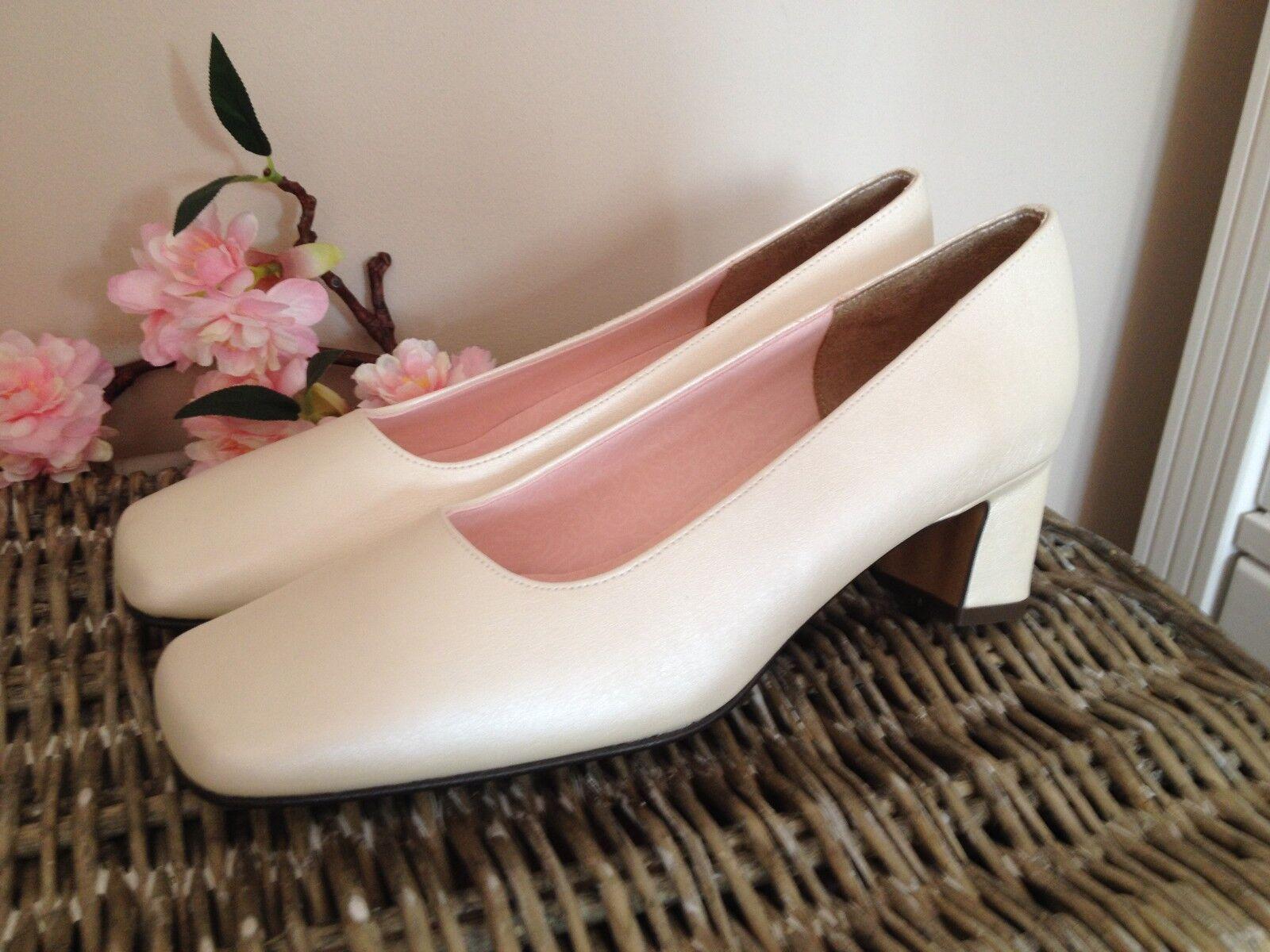 Paradox Blossom Damen Pumps Gr.37,5 Perlmutt Ivory Damen Schuhe Neu