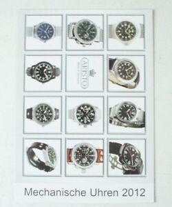 Aristo Made In Germany Mechanische Uhren 2012 Prospekt Aristo Vollmer B11251