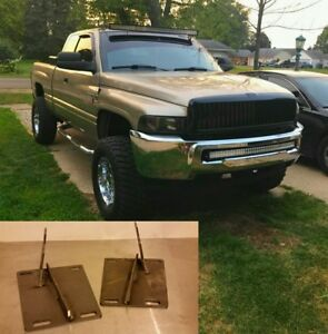 Fit for Dodge 2nd//4th Gen RAM 1500//2500//3500 Front Bumper Conversion Brackets
